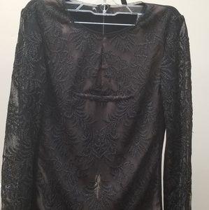 BCBG MaxAzria black lace top , XS